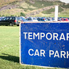Holyrood Park, Edinburgh<br /> Temporary Car Park.