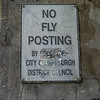 Edinburgh, Scotland<br /> No Fly Posting.