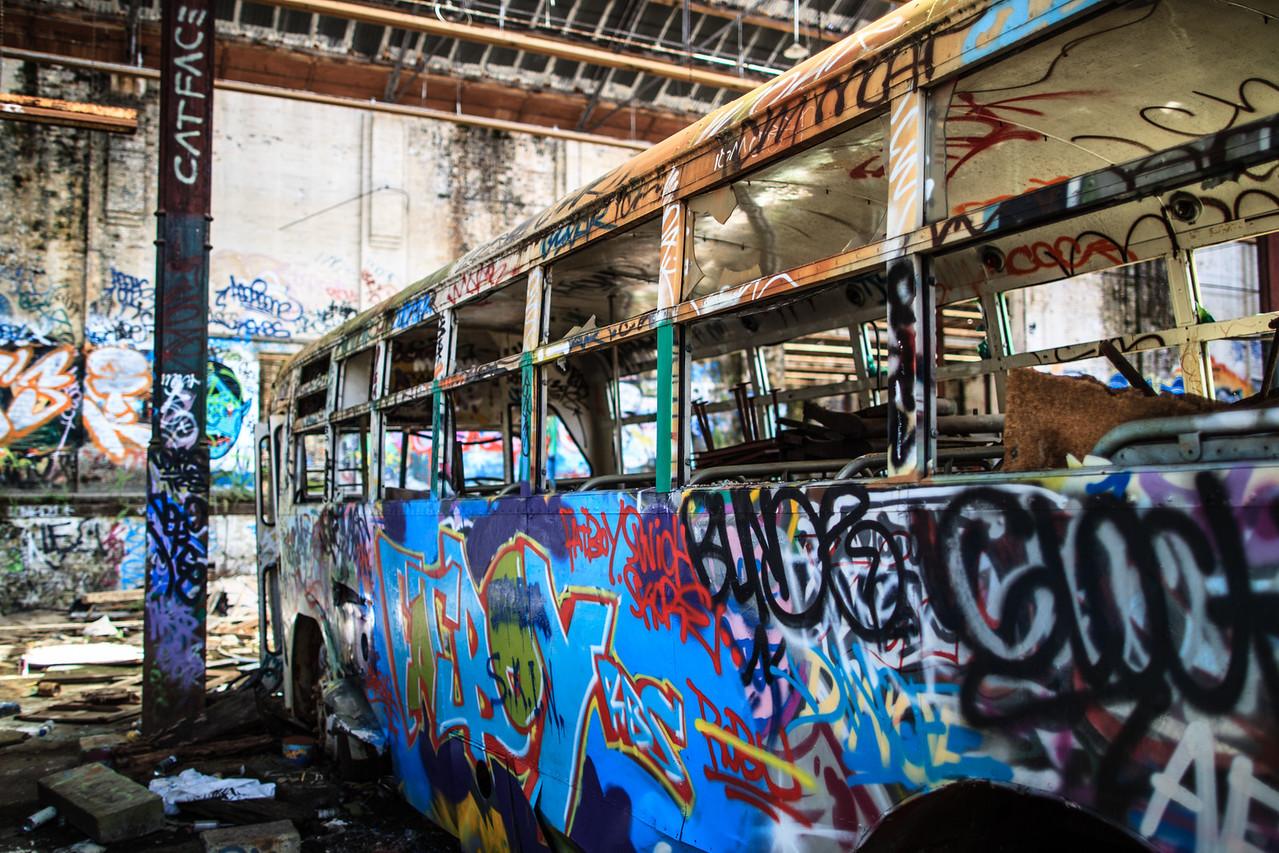 Glebe, Sydney, NSW, Australia<br /> Rozelle Tram Depot, Glebe. Opened in 1918; closed in 1958.