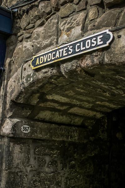 Advocate's Close, Royal Mile, Edinburgh<br /> Advocate's Close, Royal Mile, Edinburgh