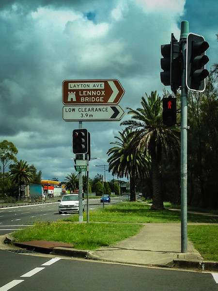 Glenbrook, Blue Mountains, NSW, Australia<br /> Turn here for the 1833 Lennox Bridge, commonly known as the 'Horseshoe Bridge'.