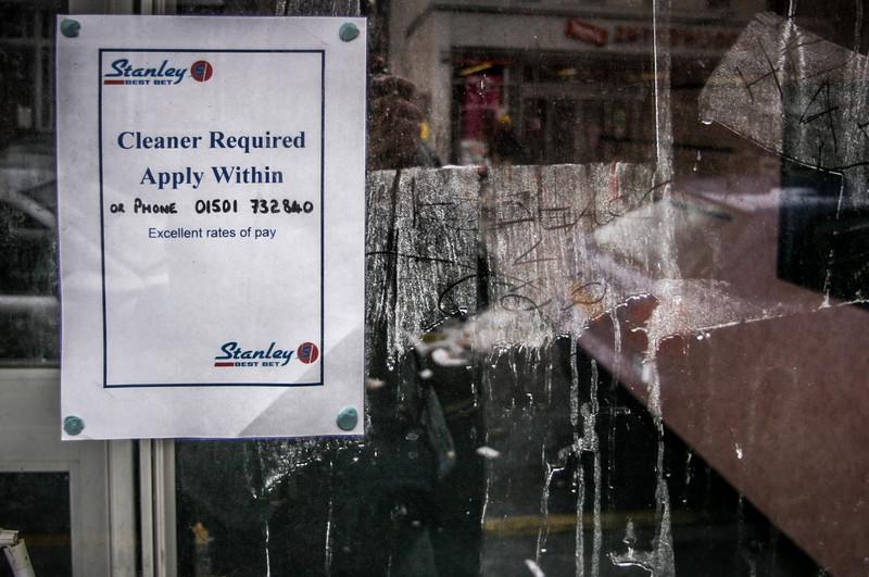 Edinburgh, Scotland<br /> Cleaner Required.