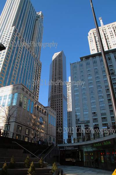 Chicago downtown - bottom view