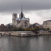 Notre Dame Cathedral along the Seine in Paris - 17 Nov 2011