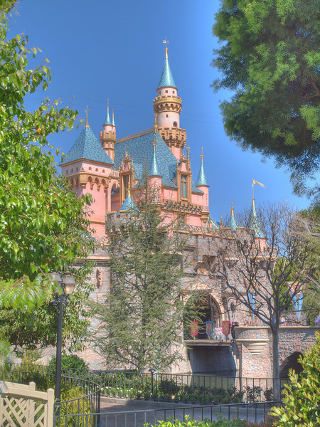 Sleeping Beauty's Castle at Disneyland - HDR - 14 Mar 2010