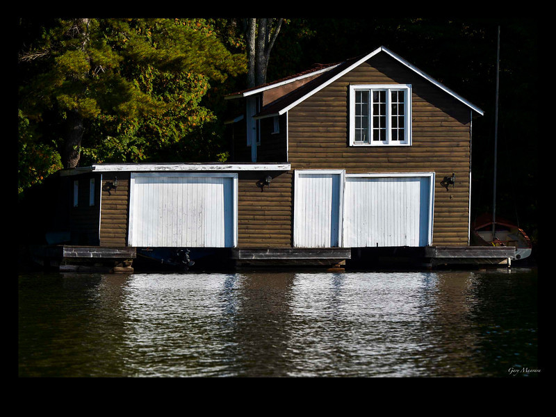 Boathouse, Lake Rosseau, Muskoka, Ontario