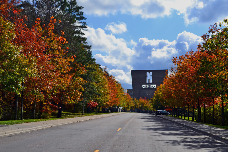 Abbey Road<br /> The road to St. John's Abbey in Collegville, MN.
