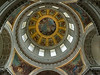 The dome above Napoleon's tomb at les Invalides, Paris