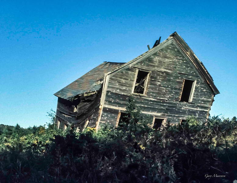 This falling down house was off the Long Trail in Vermont not far from Brattleboro.  1974
