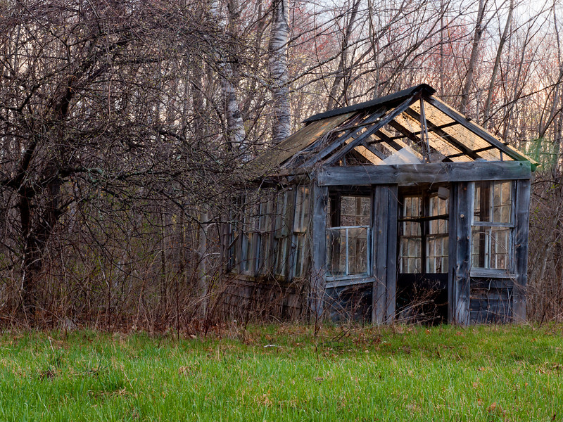 Abandoned greenhouse in Plymouth NH