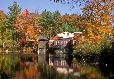 Frye's Measure Mill, Wilton, NH part of a seasonal study from the same vantage point. from the 1990s - Kodachrome scan