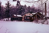 Frye's Measure Mill, Wilton NH<br /> Winter view; part of a seasonal study I did in the 1990s.  This is a film scan and quite badly magenta.