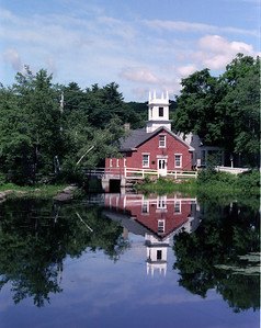 Reflections of Harrisville, NH Slide scan from ages ago.