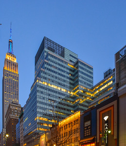 34th Street in the Early Evening hours