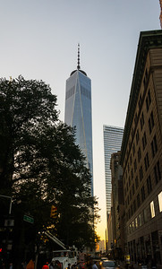 World Trade Center 1 & 7 at Sunset