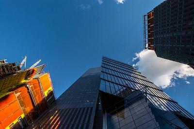 Looking up 10 Hudson Yards