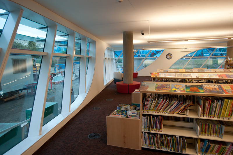 The children's section at the new Surrey Public Library.