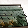 Some missing glass louvres at the southwest corner of the new Surrey Public Library.