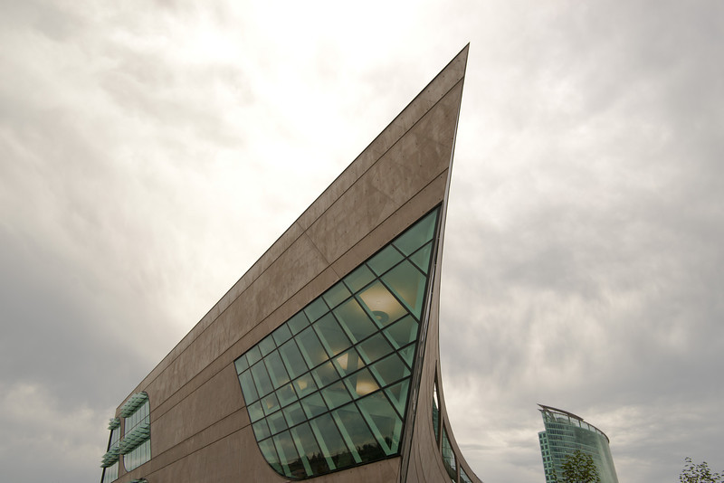 """The north-facing """"prow"""" of the new Surrey Public Library."""