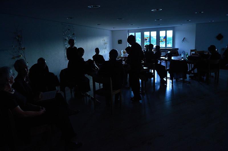 Aarauer Vokalisten nacvičují před koncertem