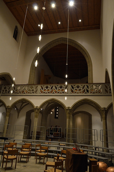 interiér protestantského kostela v Aarau (Reformierte Stadtkirche Aarau)