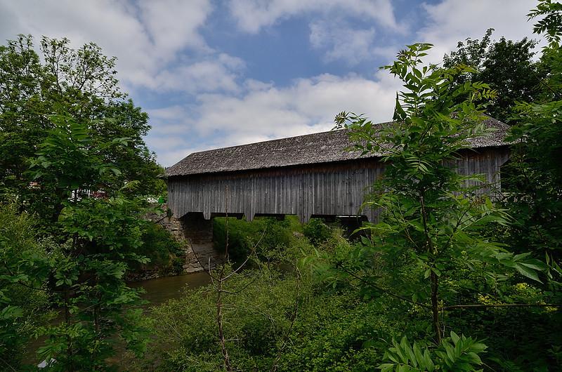 krytý most v Appenzellu, u nás v Čechách se mu na Šumavě říká rechle
