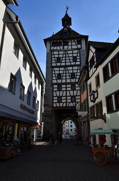 brána na západním okraji historické části města Konstanz (myslím, že se jmenuje Stadttor)