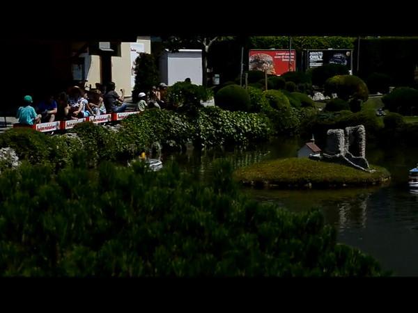 video z miniaturního modelu Švýcarska v Melide