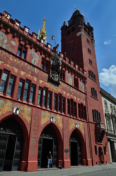 Basilejská radnice na Marktplatzu