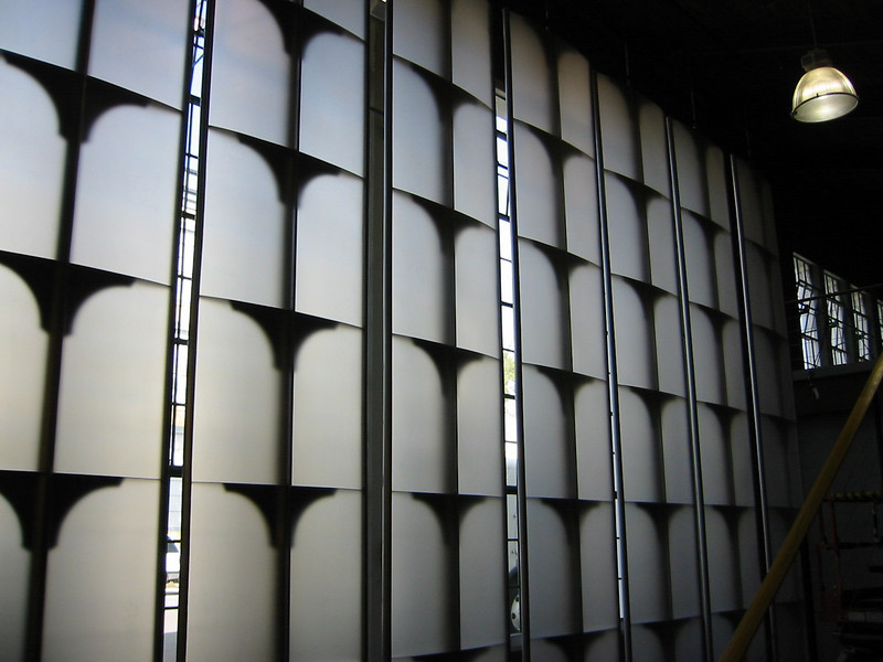 "22'x4'x6"" rotating vertical louvers for the set for ""Eyes"" (Warner Bros. Television)"