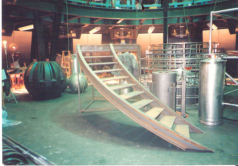 "Quarter spiral staircase in cryogenic prison for the set of ""Demolition Man"" (Silver Productions)"