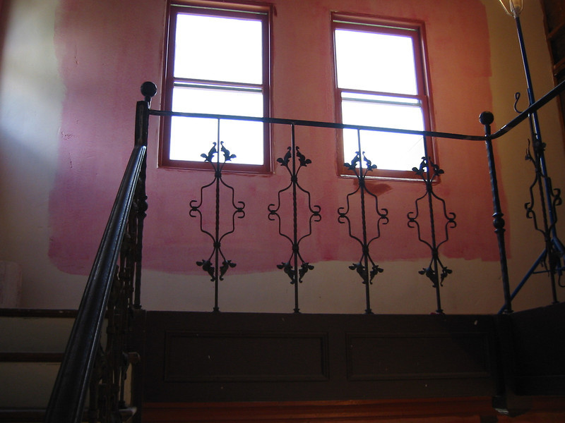 "Entry stair rail for the set of ""Skin"" (Warner Bros. Television)"