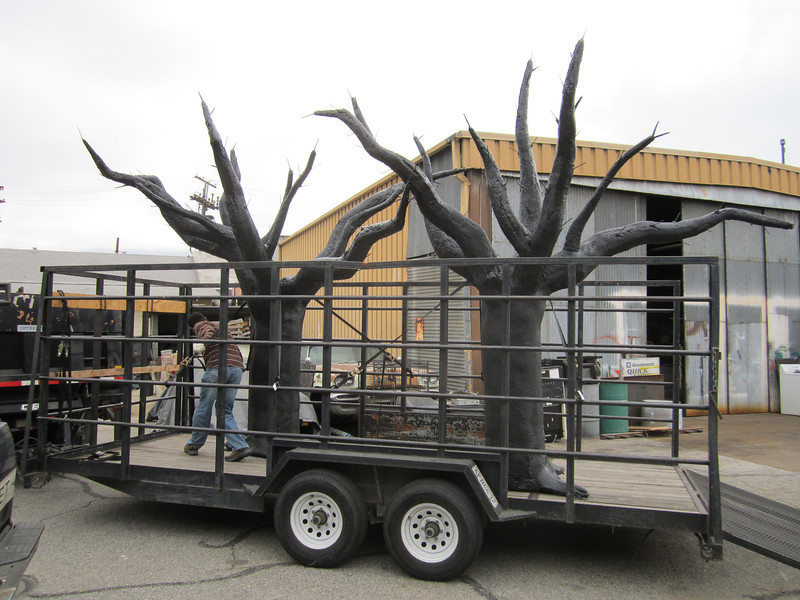 "Steel and foam oak trees for the set of ""Heart of Dixie"" (Warner Bros. Television)"