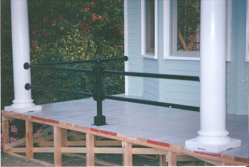 """Front porch rail for the set of """"I Love Trouble (Ann Hall Productions)"""