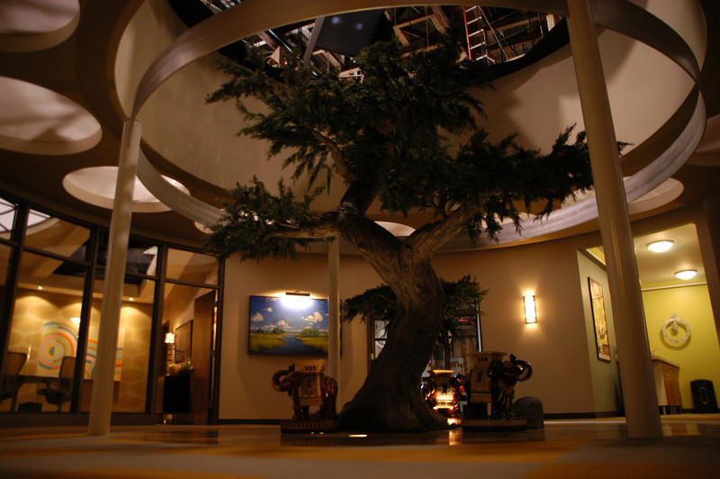 "Close-up of fiberglass and steel bonsai tree for set the of ""Legally Mad"" (Warner Bros. Television)"