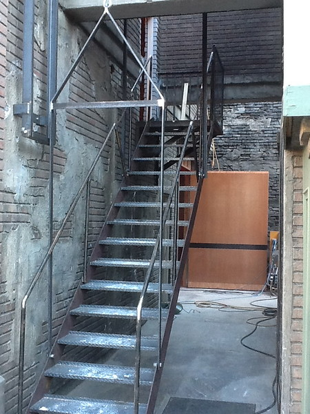 "Fire exit stairs for the set of ""Glee"""