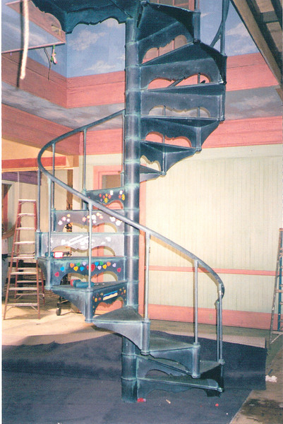 "Spiral staircase and rail for the set of ""Princess Diaries"" (Disney)"