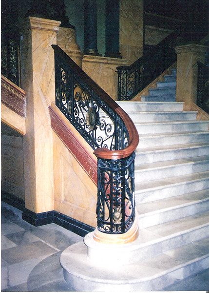 "Grand staircase railing for the set of ""Town and country"" (Culver Studios)"