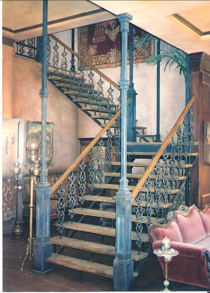 "Hotel staircase and rail for the set of ""Last man standing"""