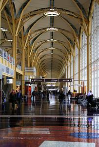 On the concourse at Washington's Ronald Reagan Airport, Washington, D.C.