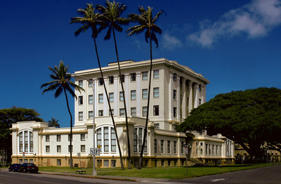 Territorial Office Building, also known as the Kekuanaoa Building, 1926  Stately Beaux Arts/Deco building  Honolulu, O'ahu, Hawai'i