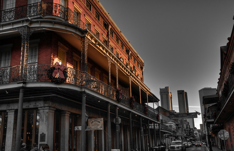 The French Quarter in New Orleans, Louisiana.