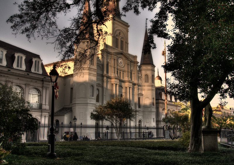 St. Louis Cathedral on Jackson Square in New Orleans, Louisiana.