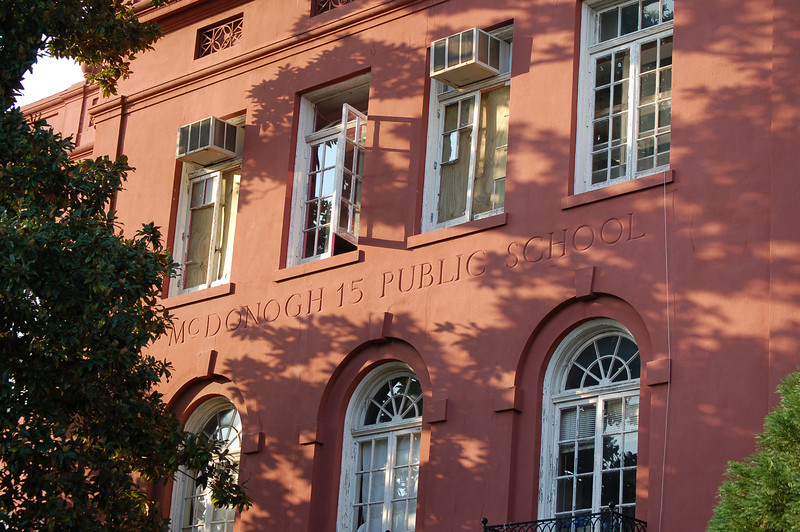 Public school building in the French Quarter, New Orleans