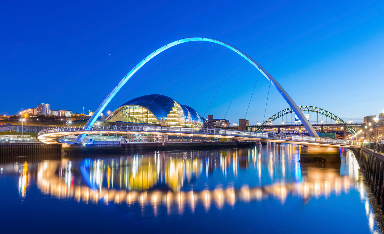 The Gateshead Millennium Bridge, Newcastle