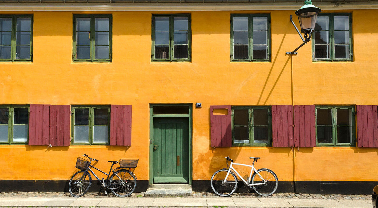 Yellow houses at Nyboder, Copenhagen