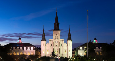 Saint Louis Cathedral is in the French Quarter of New Orleans