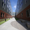 Opening of The Edge, private dormitory across French Street from Lowell High School. Courtyard between wings includes artificial turf. (SUN/Julia Malakie)
