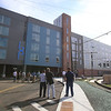 Opening of The Edge, private dormitory across French Street from Lowell High School. (SUN/Julia Malakie)