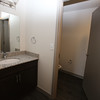 Opening of The Edge, private dormitory across French Street from Lowell High School. Bathroom in a two-bedroom unit. (SUN/Julia Malakie)